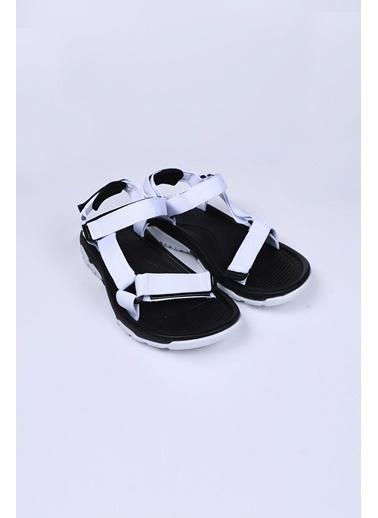 Female Project Siyah-Beyaz Cırtlı Sandalet Siyah